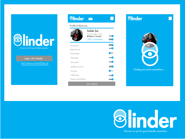 Linder - Mobile App Design